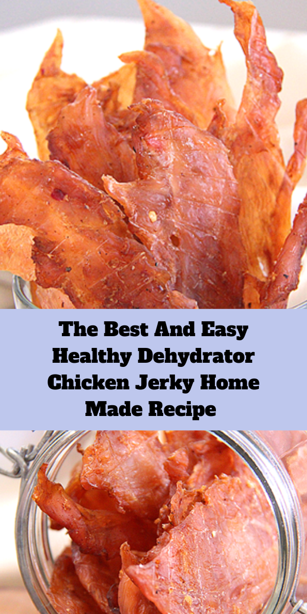 The Best And Easy Healthy Dehydrator Chicken Jerky Home Made Recipe