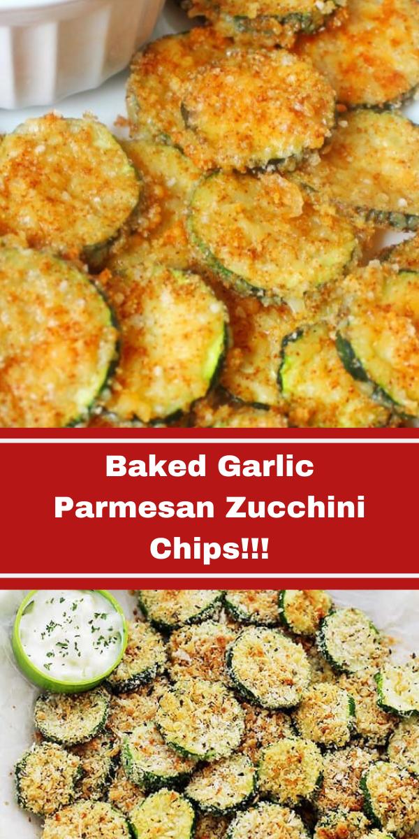 Baked Garlic Parmesan Zucchini Chips!!!