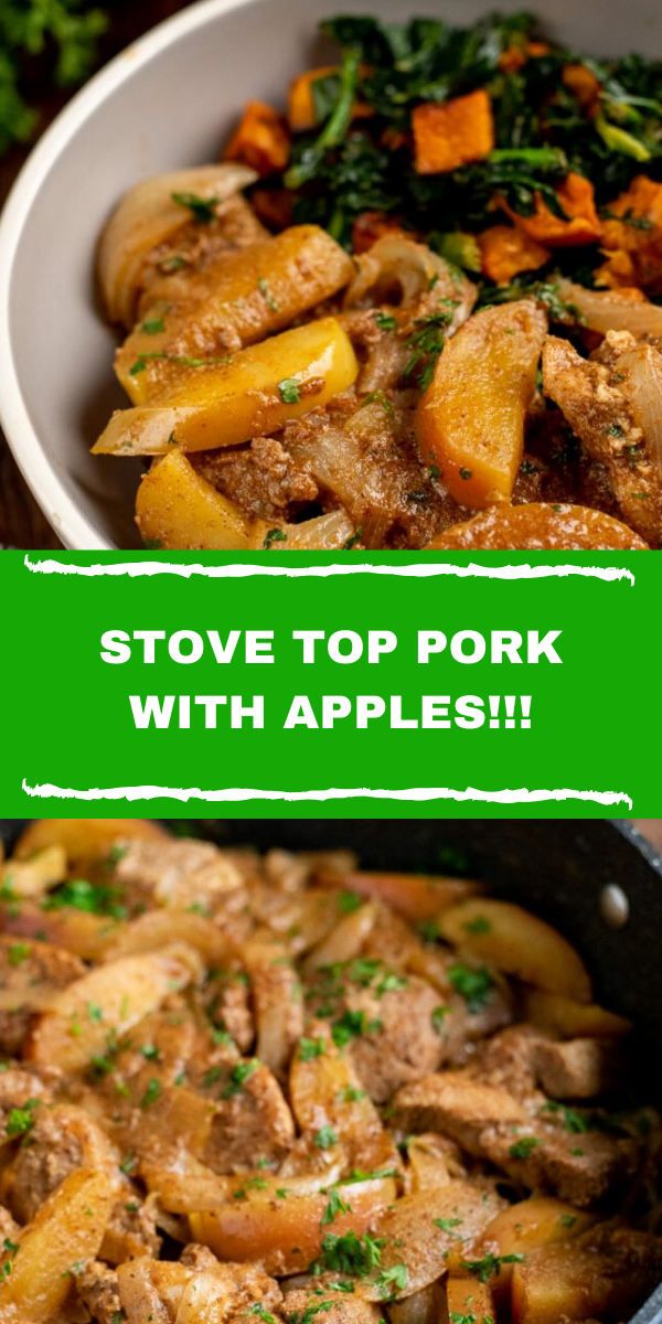 STOVE TOP PORK WITH APPLES!!!