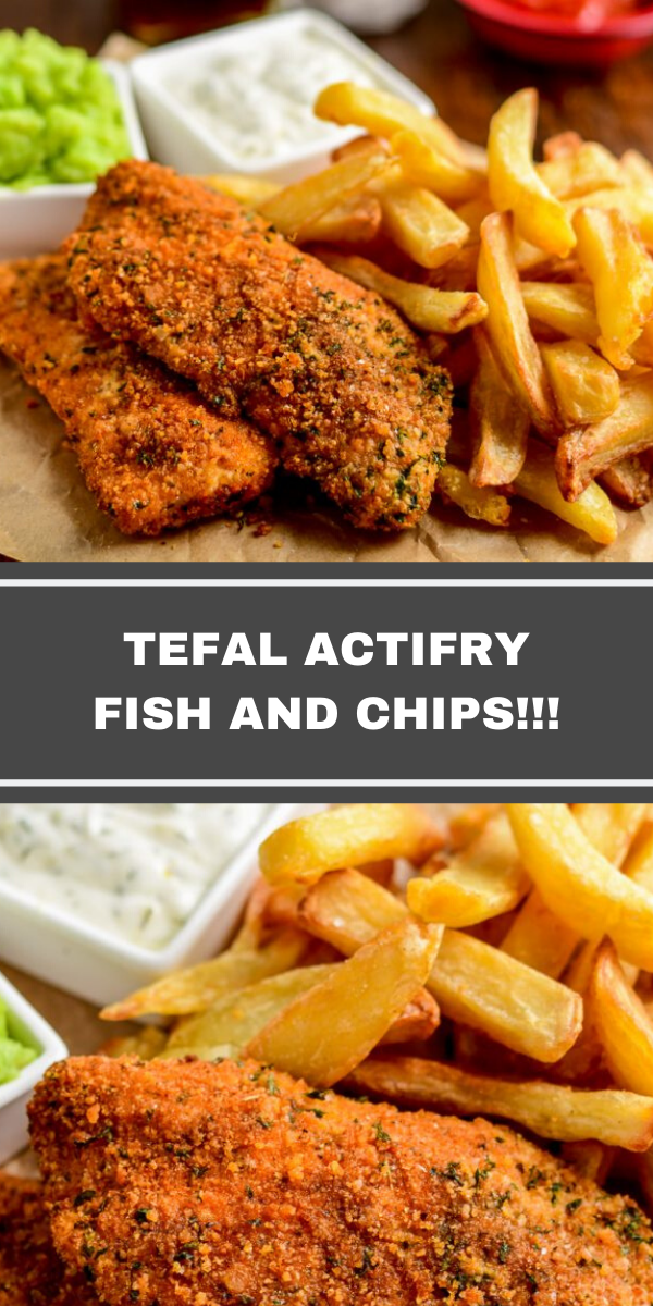 TEFAL ACTIFRY FISH AND CHIPS!!!