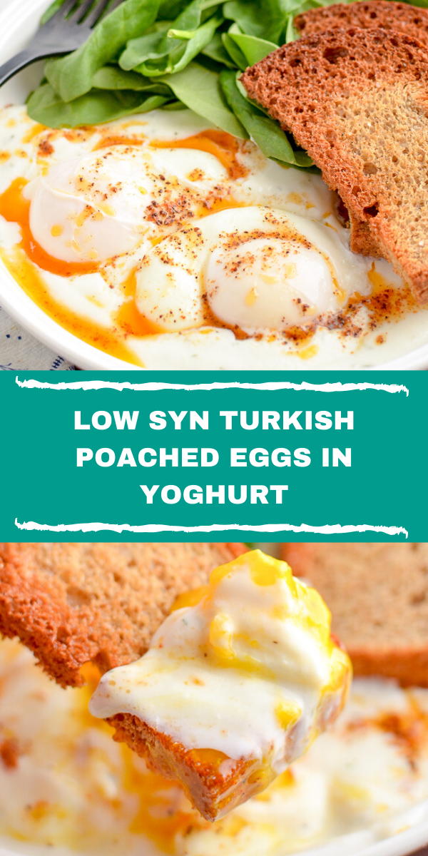 LOW SYN TURKISH POACHED EGGS IN YOGHURT