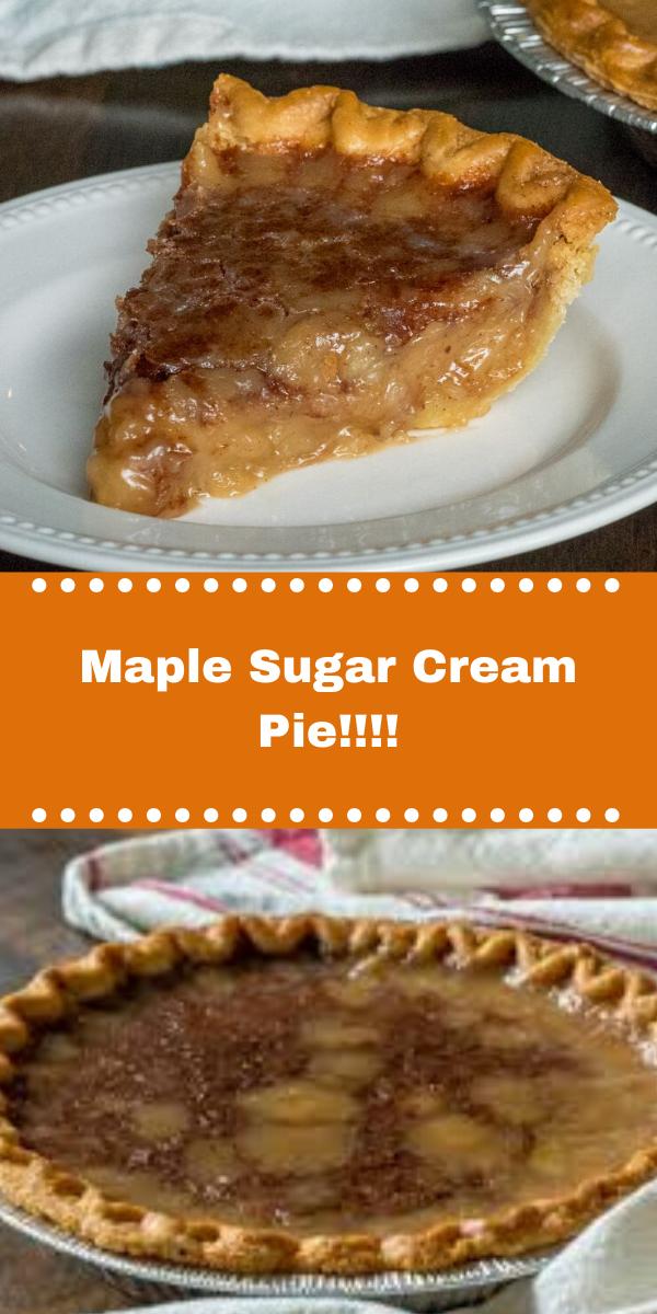 Maple Sugar Cream Pie!!!!