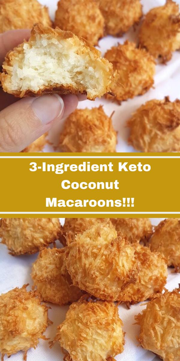 3-Ingredient Keto Coconut Macaroons!!