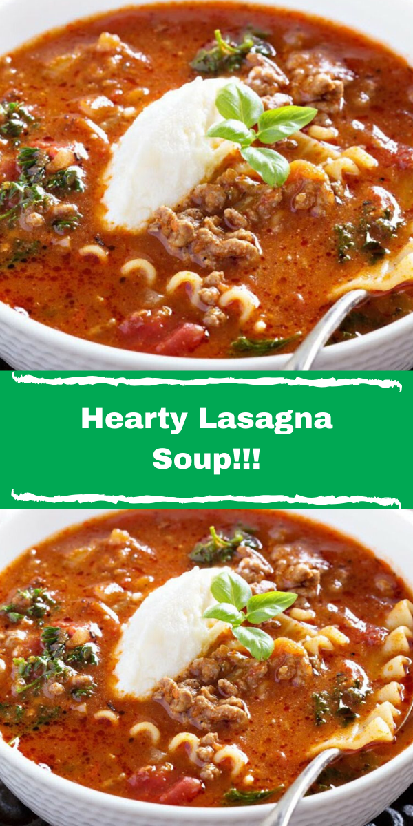 Hearty Lasagna Soup!!!