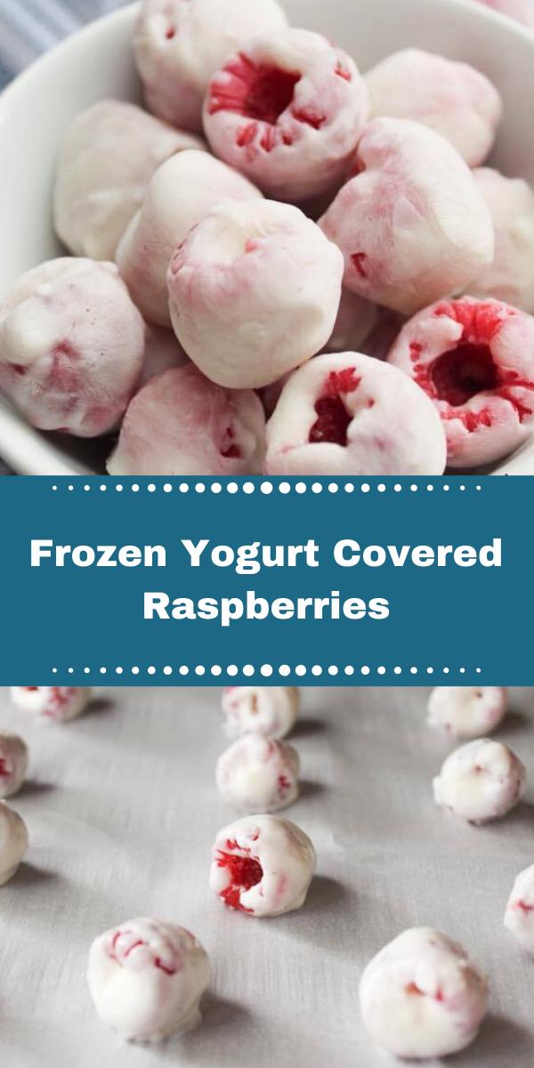 Frozen Yogurt Covered Raspberries