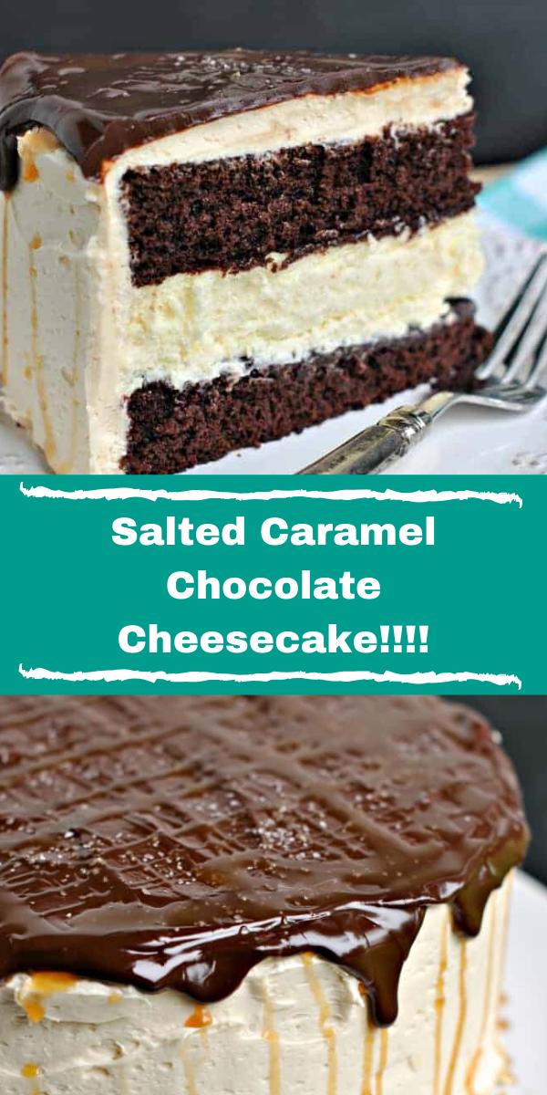 Salted Caramel Chocolate Cheesecake!!!!